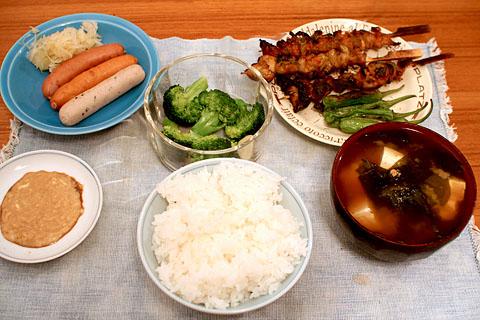 Yakitori_dinner