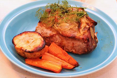 Oven_baking_of_pork